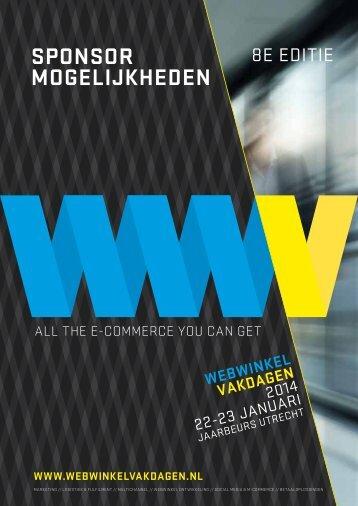 sponsor mogelijkheden - Webwinkel Vakdagen