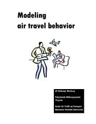 Modeling air travel behavior - DTU Electronic Theses and ...