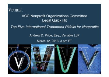 Top Five International Trademark Pitfalls for Nonprofits - Venable LLP