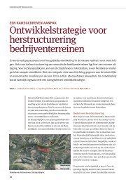 Ontwikkelstrategie voor herstructurering ... - Brink Groep