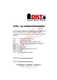 Download drifts- og vedligeholdelseshæfte - Dansk Kloak Teknik ApS