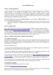 Jeu « Kalenji Experience » Article 1 : Société Organisatrice