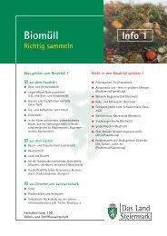 Info 1 Biomüll Richtig sammeln - Bad Aussee