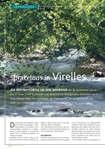 Natuurblad nr 24 - Aquascope Virelles