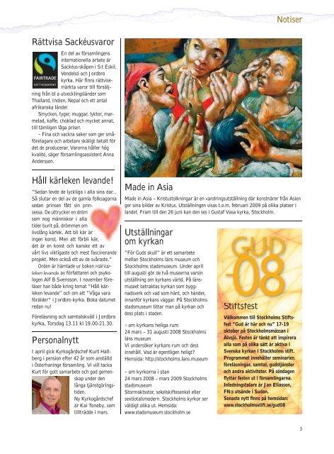 Läs intervju i Österhaninge församlingsblad nr 3 sid 10