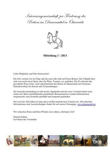 Info 01/2013 - pferd-steiermark.at: Startseite