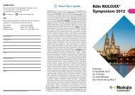 Köln NULOJIX® Symposium 2012