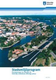 Stadsmiljöprogram - Södertälje kommun