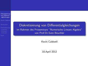 Diskretisierung von Differentialgleichungen - Prof. Dr. Sven Beuchler
