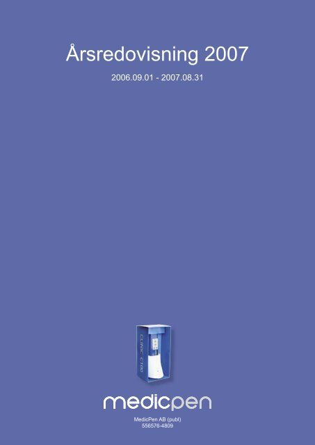 Årsredovisning 2006/2007 - AktieTorget