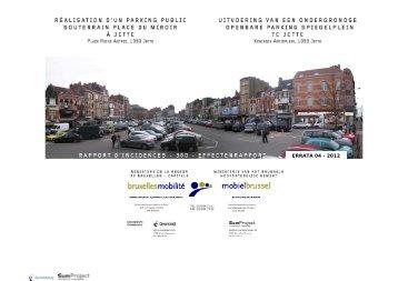 ERRATA 04 - 2012 - Bruxelles Mobilité - Région de Bruxelles-Capitale