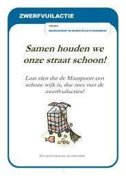 Samen houden we onze straat schoon! - s-Hertogenbosch