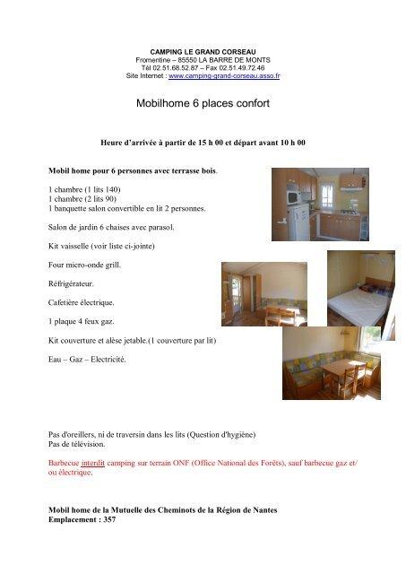 Mobilhome 6 Places Confort Mutuelle Des Cheminots De La