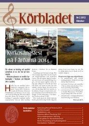 Körbladet nr 2 2012 - Finlands svenska kyrkosångsförbund