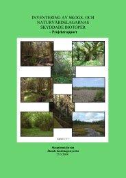 inventering av skogs- och naturvårdslagarnas skyddade biotoper