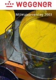 Milieujaarverslag 2003 - Wegener