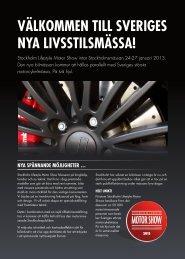 PDF på svenska - Stockholm Lifestyle Motor Show