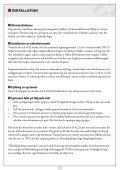 INSTALLATION- OCH DRIFTANVISNING - Page 5
