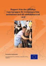 Rapport från den tillfälliga expertgruppen för övergången från ...