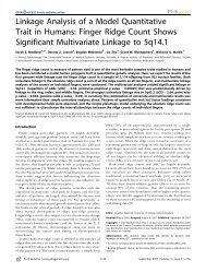 Linkage Analysis of a Model Quantitative Trait in - QIMR Genetic ...