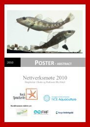 Nettverksmøte 2010 - Sats på torsk