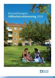 Bostadsbolaget årsredovisning 2009