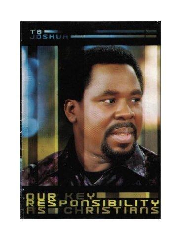 Pamflet 1.02 - Onze voornaamste verantwoordelijkheid als christen...