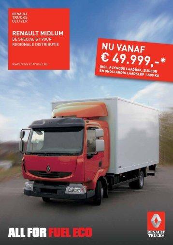€ 49.999,-* - Renault Trucks Benelux