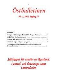 Nr 3, september 2012 - Sällskapet för studier av Ryssland, Central