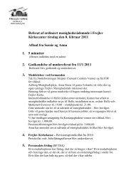 Referat af menighedsrådsmøde februar 2011 - soenderholm-frejlev.dk
