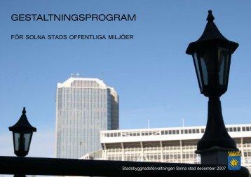 gestaltningsprogram - Solna stad