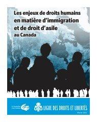 en matière d'immigration et de droit d'asile - Ligue des droits et libertés