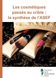 Synthese cosmetique.pdf - Association Santé Environnement France