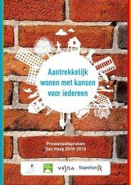 Prestatieafspraken Den Haag 2010-2015 - Haag Wonen