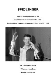 Programnoter til kandidateksamenskoncert juni 2011 - Morten Heide