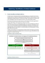 Vejledning i identifikation og vurdering af kritiske funktioner
