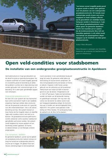 Open veld-condities voor stadsbomen - GreenMax
