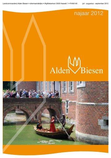 Bekijk Najaar 2012 - Landcommanderij Alden Biesen