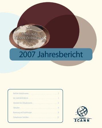 2007 Jahresbericht - icann