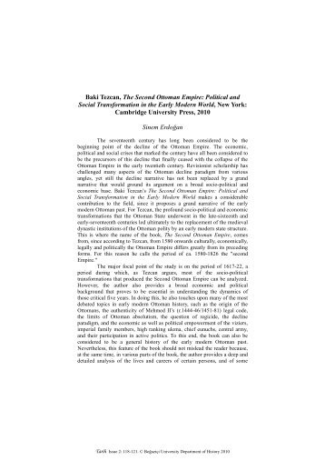 Baki Tezcan, The Second Ottoman Empire - Tarih: Graduate History ...