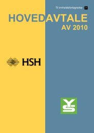 Hovedavtale YS HSH 2010
