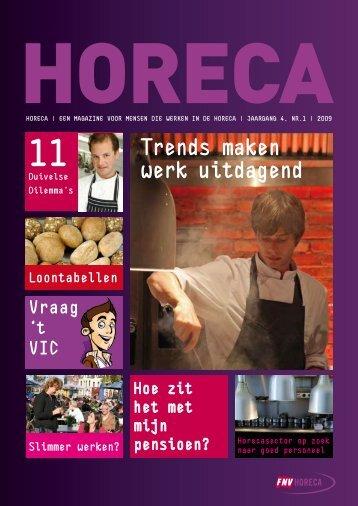 Trends maken werk uitdagend - FNV Horeca