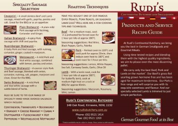 Download our Recipes and cooking guide - Rudi's Continental ...