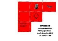 Invitation - Tingagerskolen