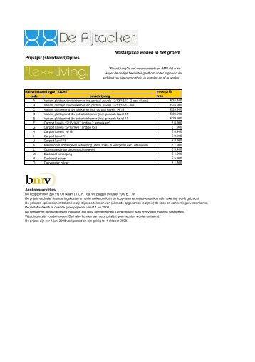 Riethoven prijslijst juni naar makelaar