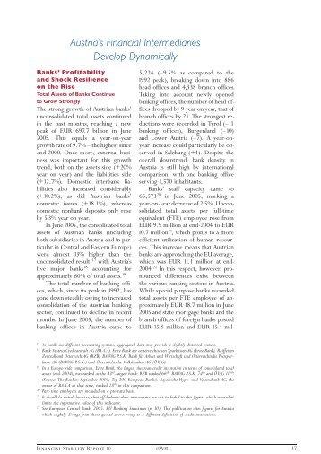 Austria's Financial Intermediaries Develop Dynamically