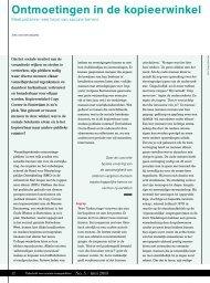 Lees het artikel over ontmoetingen in de kopieerwinkel (PDF) - TSS ...