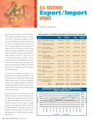 U.S. Fastener Export/Import Update - Zepol