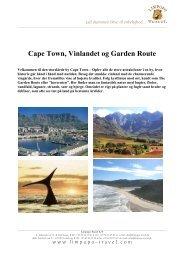 Cape Town, Vinlandet og Garden Route