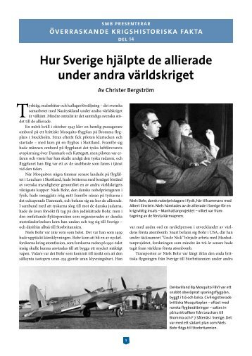 Hur Sverige hjälpte de allierade under andra världskriget